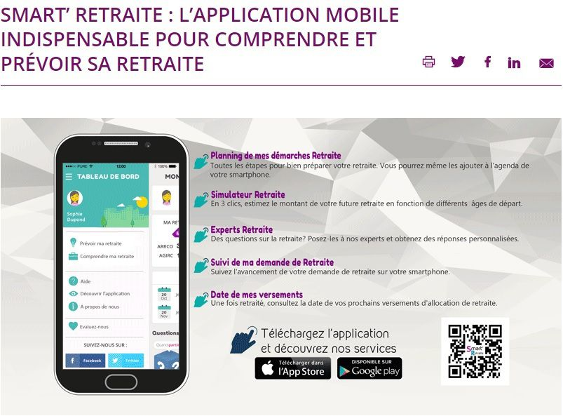 SMART'RETRAITE : L'APPLICATION AGIRC/ARRCO A TELECHARGER ABSOLUMENT