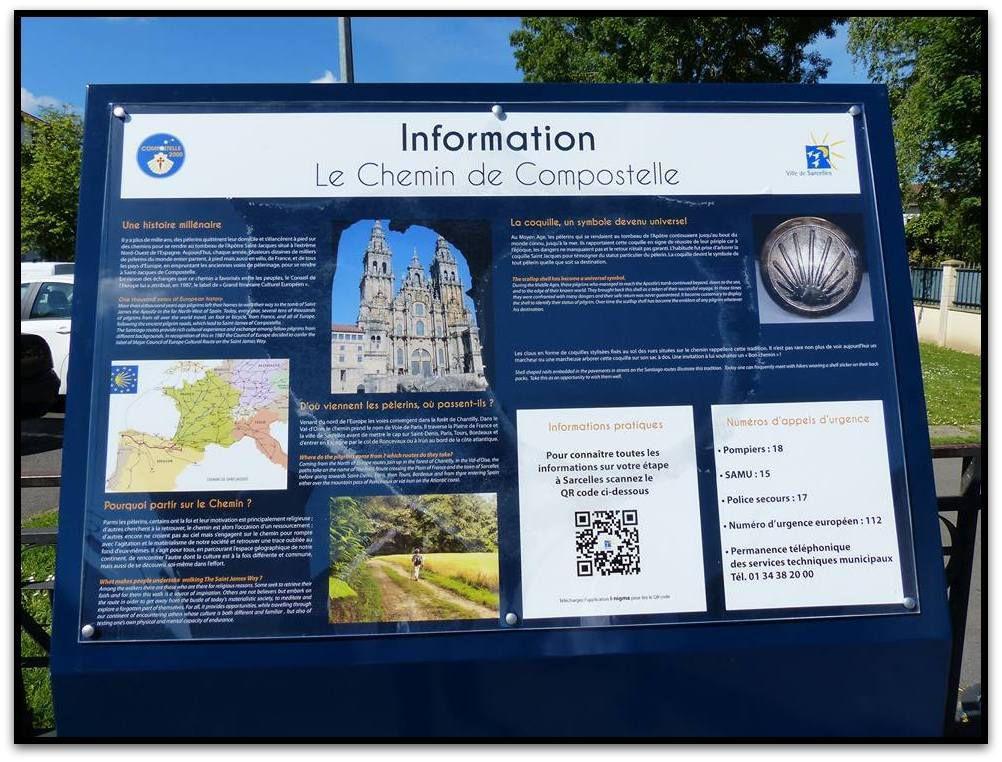 Sarcelles  Ville Etape du Chemin de Compostelle