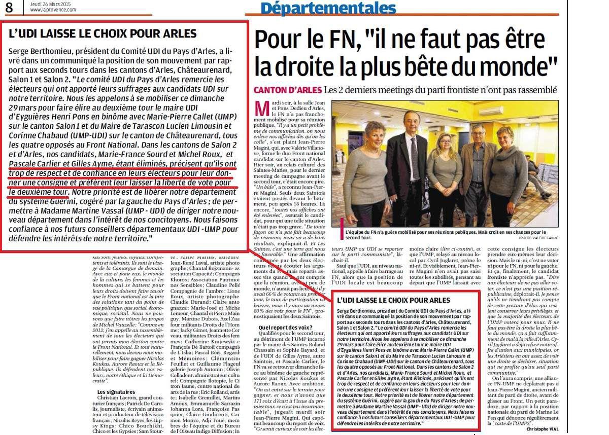 L'UDI d'Arles est-elle crédible??