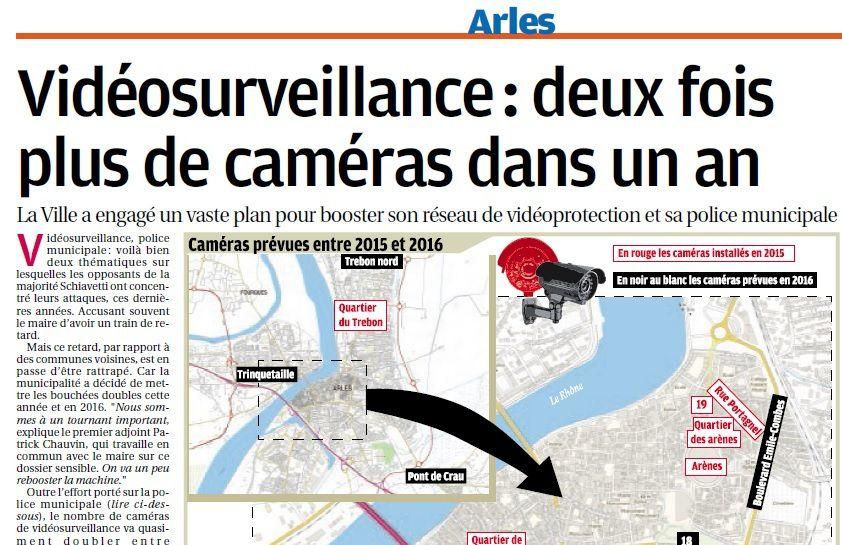 L'actu du jour: Sécurité - Video protection sur Arles