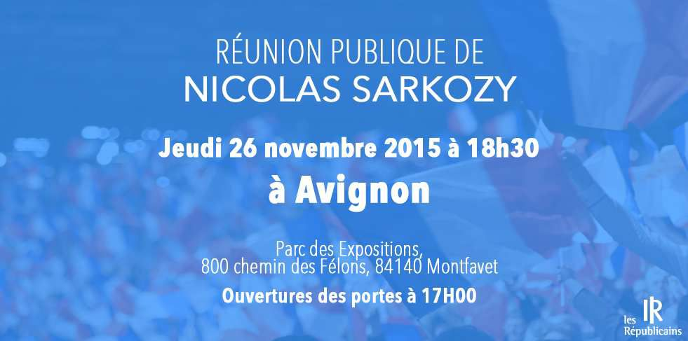 Nicolas SARKOZY en meeting à Avignon