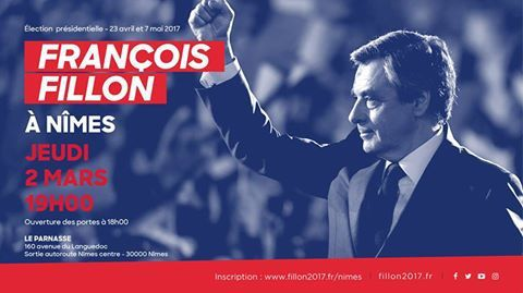 François Fillon en meeting à Nîmes