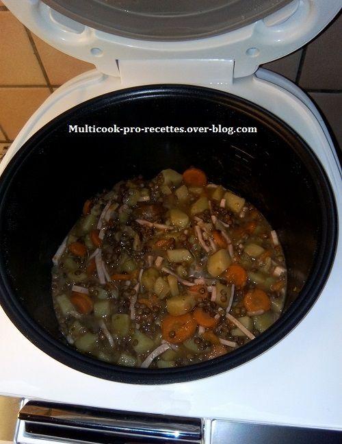 Fin de cuisson soupe de lentilles