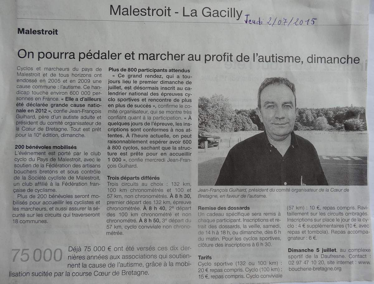 Ouest France 2 07 2015