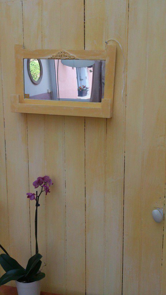 Une belle patine &quot&#x3B;Jaune Oriental&quot&#x3B; sur une porte intérieure