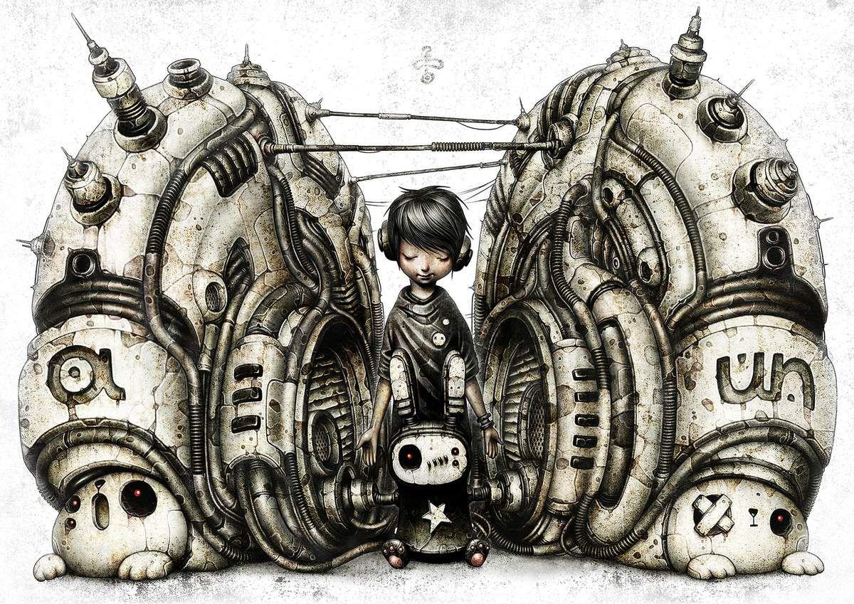 """Titre : a-un Créateur : shichigoro-shingo (Japon): C'est le même artiste qui a fait le speed painting de la fille """"gothique"""" au-dessus"""