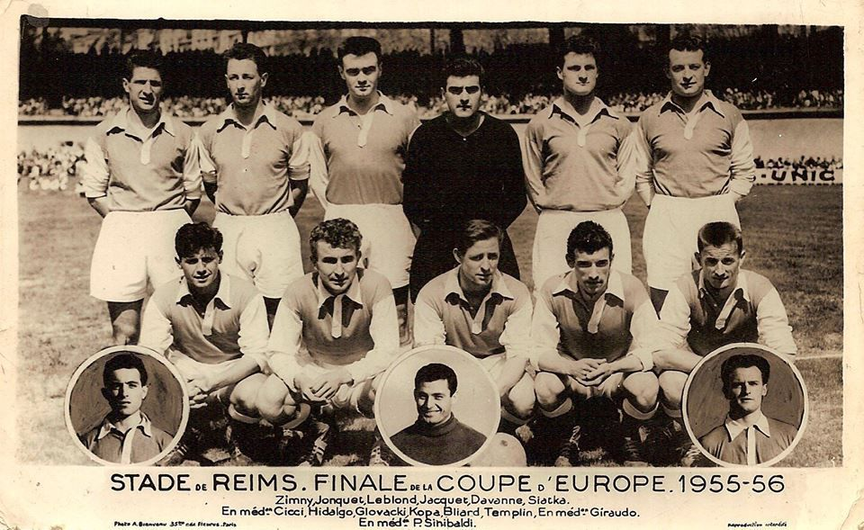 Stade de Reims et Real de Madrid. 13 Juin 1956. Finale de la Coupe d'Europe 1955-56.