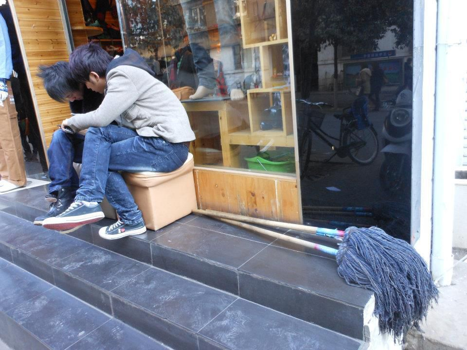 Kunming.Yunnan. Chine. Janvier 2012. Mimétisme capillaire. © Jean-Louis Crimon