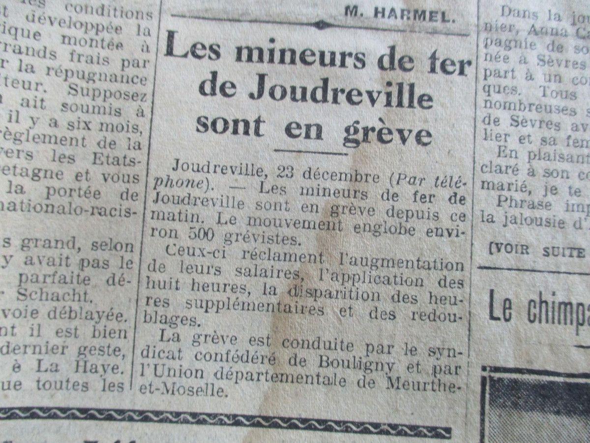 """""""Le Peuple"""", n° 3268. Mardi 24 Décembre 1929. © Jean-Louis Crimon"""