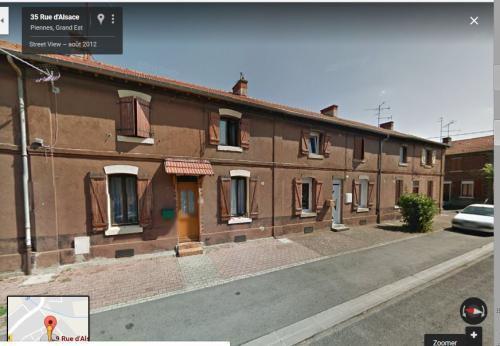 Piennes. La rue d'Alsace aujourd'hui. Maison de Francesco Zanda. © DR