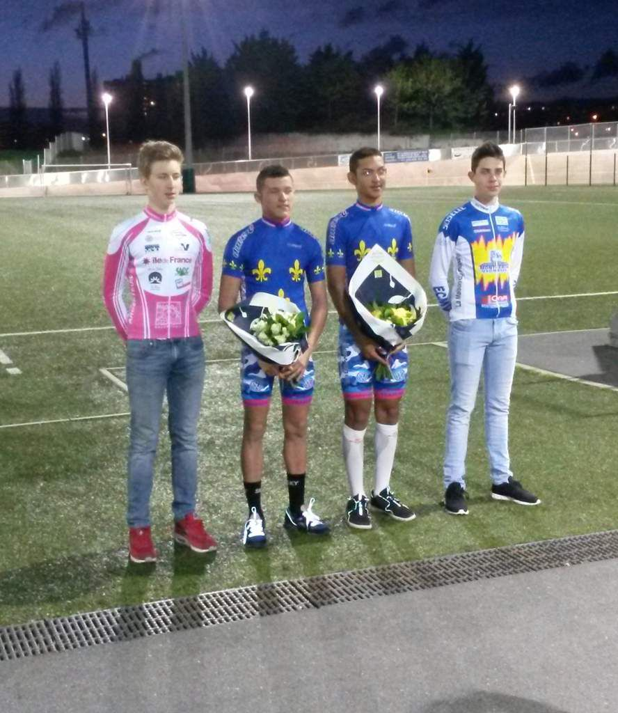 Podium de l'Américaine à Aulnay - Photo Stéphane CONTAL