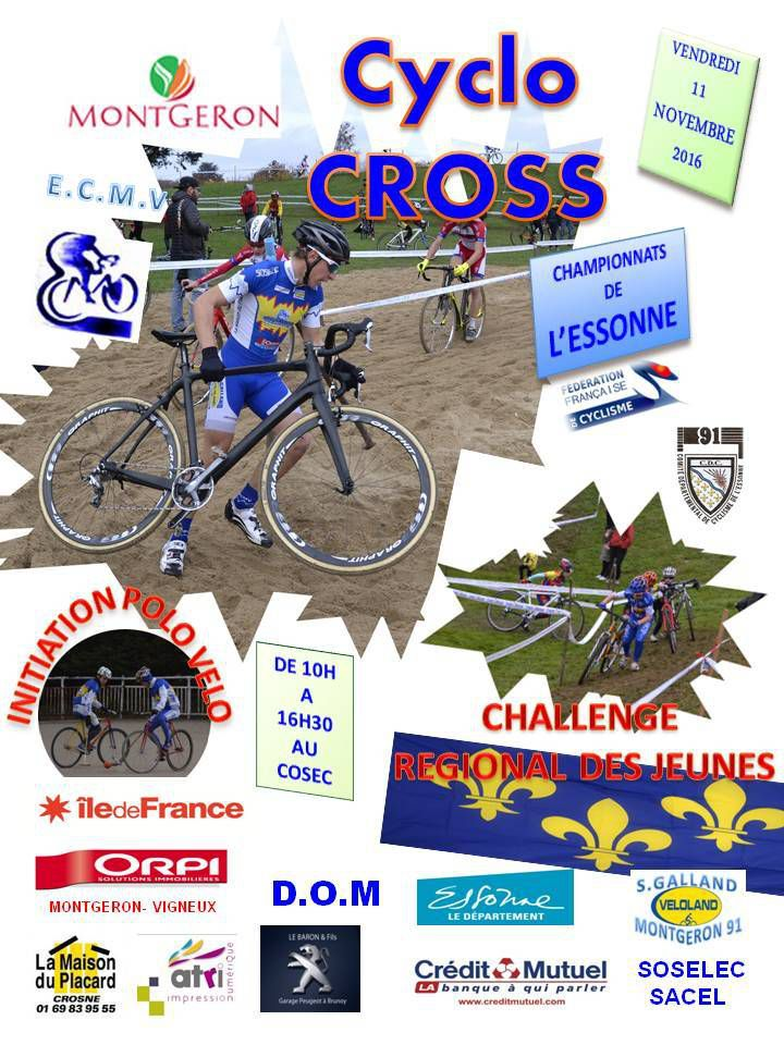 Vendredi 11 Novembre 2016 - MONTGERON - Cyclo-cross