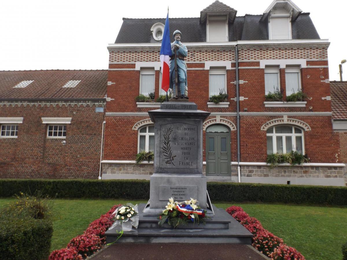 Le monument aux morts de Gœulzin (Source Lille-3)