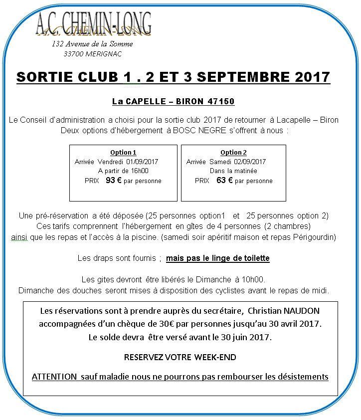 Activités du Club en 2017