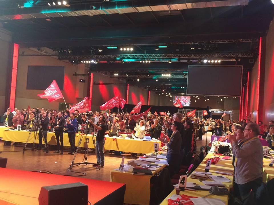 congres du parti: accueil de  la délégation cubaine