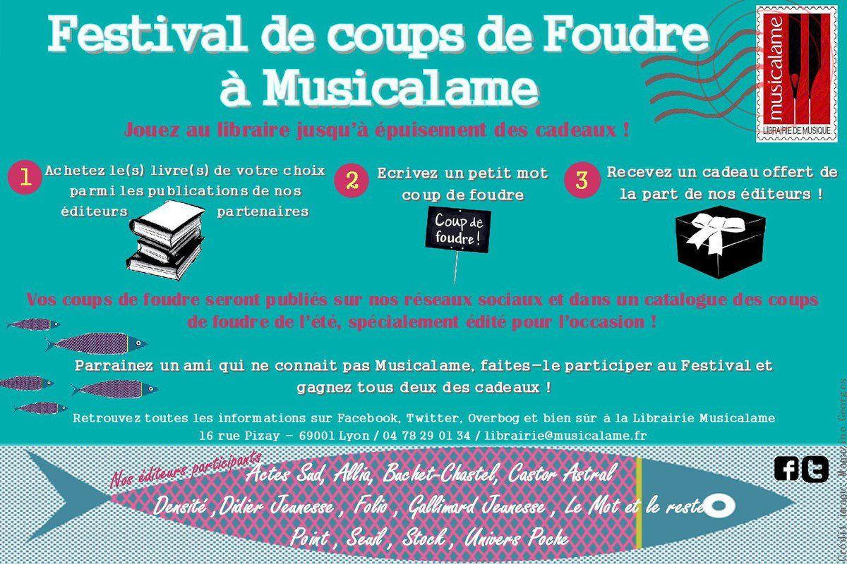 Lancement de notre Festival de coups de Foudre !