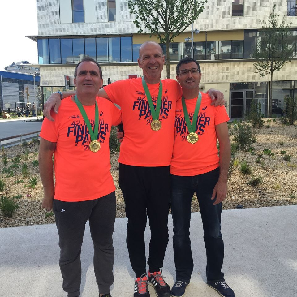 Finishers du Marathon de Paris 2015