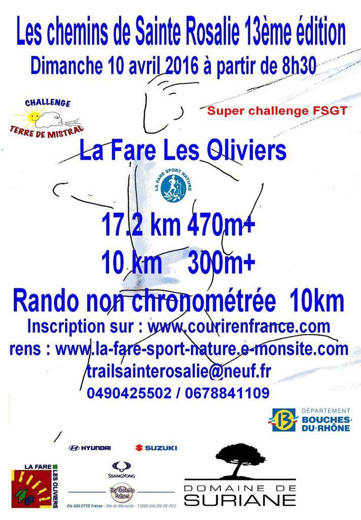 10 km des CHEMINS DE STE ROSALIE