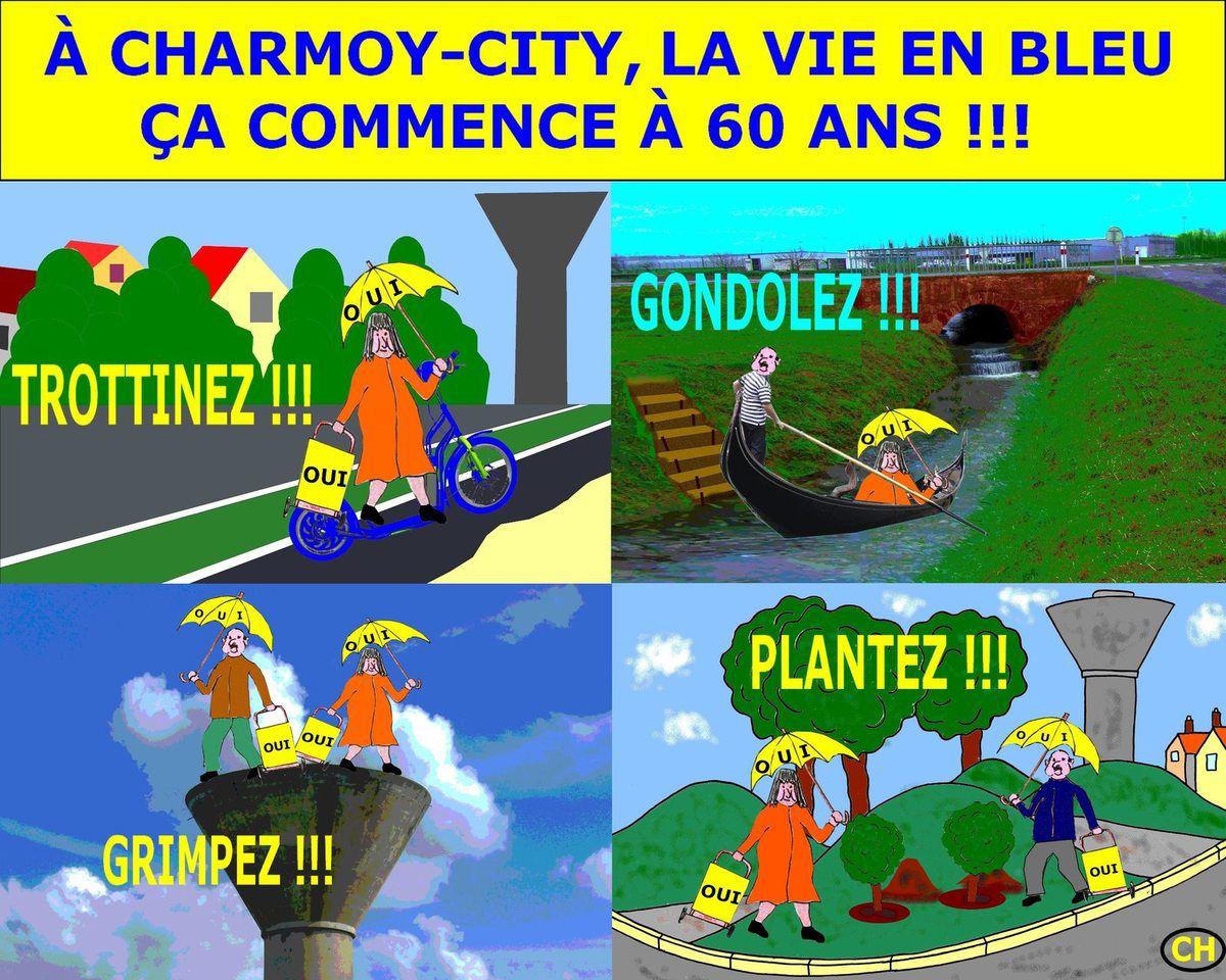 A Charmoy-City, la vie en bleu
