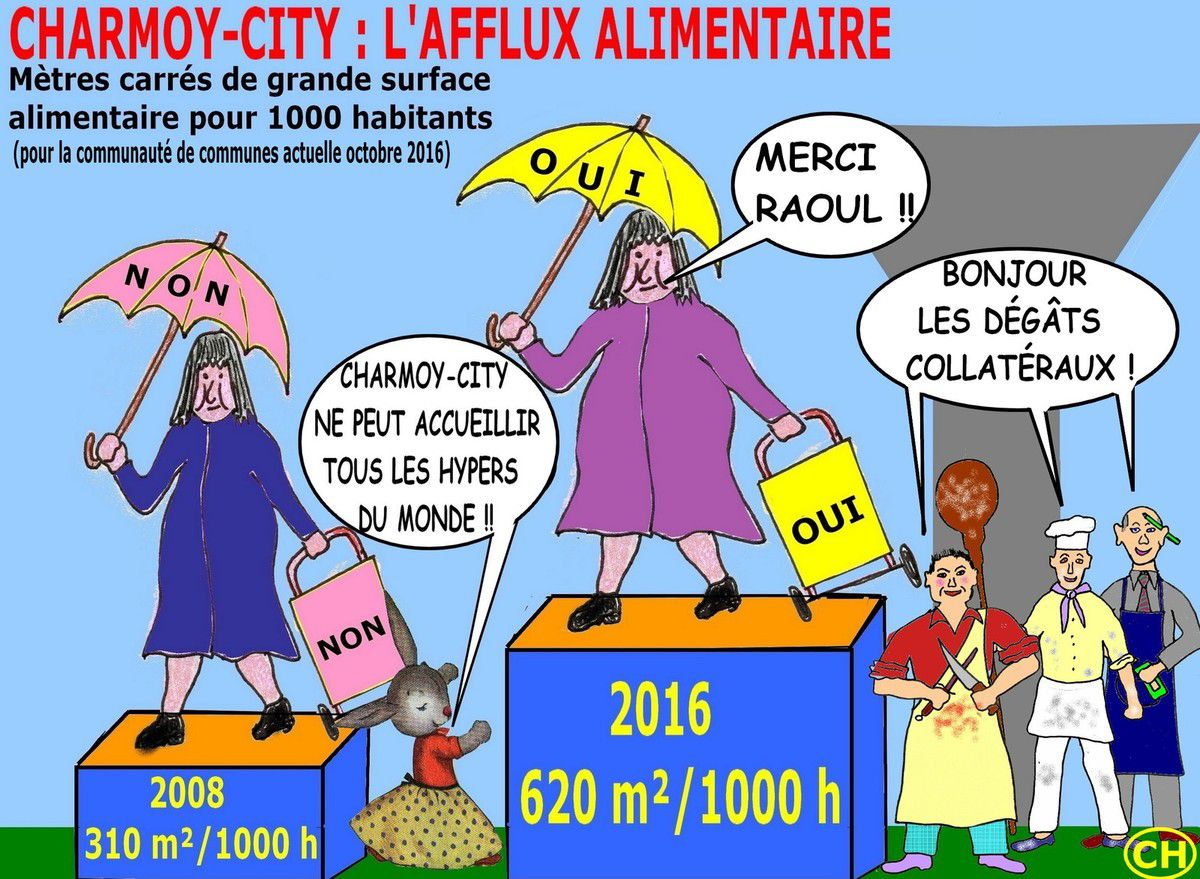 Afflux alimentaire à Charmoy-City