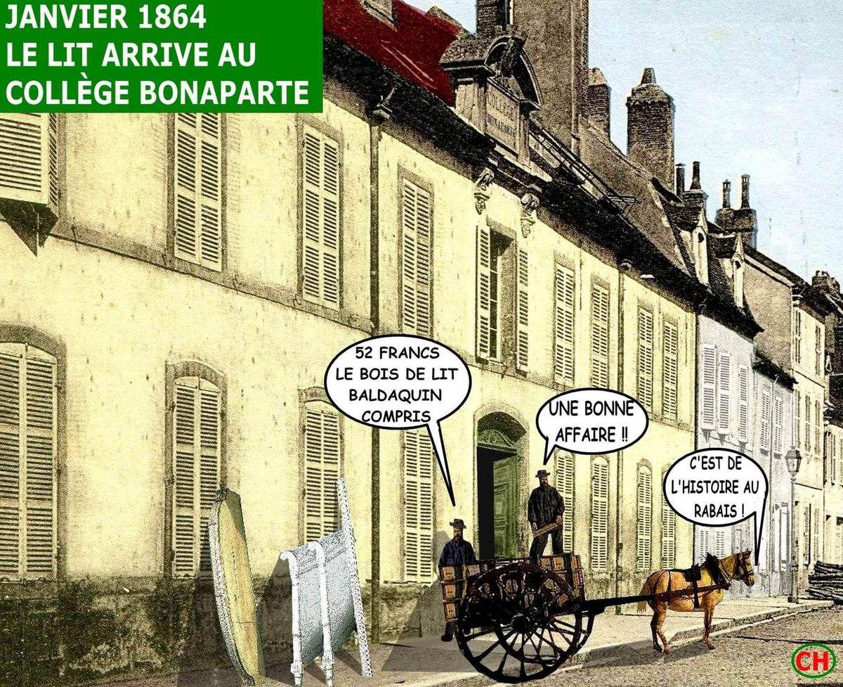 Auxonne 1864,  une chambre de Bonaparte au rabais