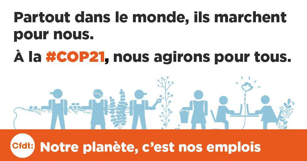 COP21 - Notre Planète, c'est nos emplois !