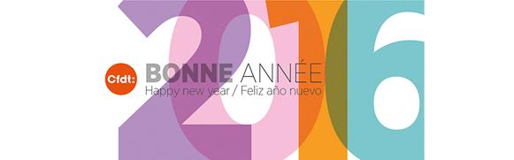La CFDT vous souhaite une excellente année 2016 !