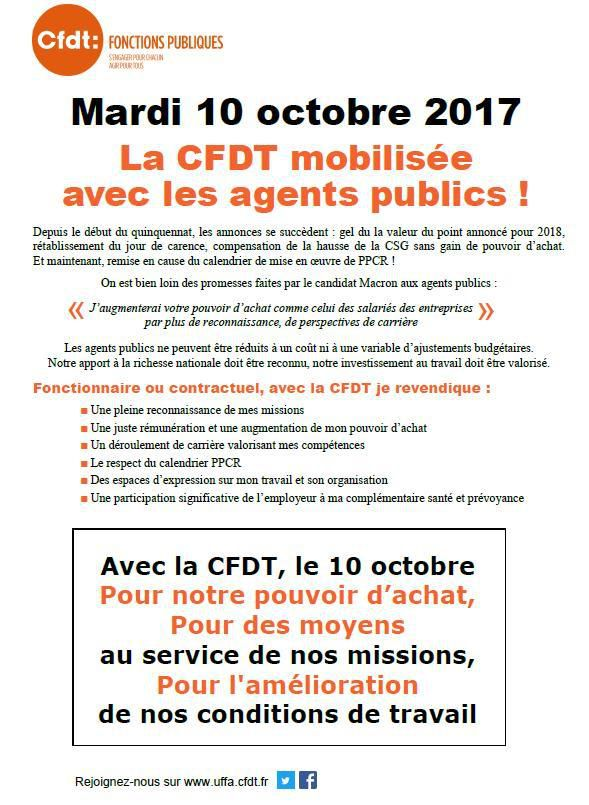 SYNTEF-CFDT -- APPEL A LA GREVE DU 10 OCTOBRE