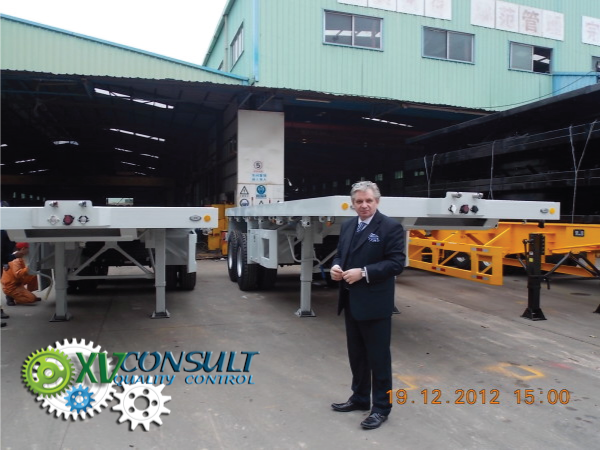 Flat Bed Semi Trailer High Quality Flat Bed Semi Trailer  China 2 Axle 20 feet Flat bed Container Semi trailer