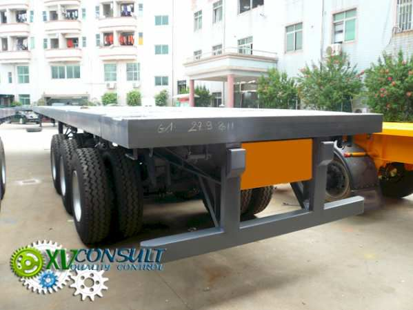 Flat Bed Semi Trailer High Quality Flat Bed Semi Trailer  China 3 Axles40 feet Flat bed Container Semi trailer
