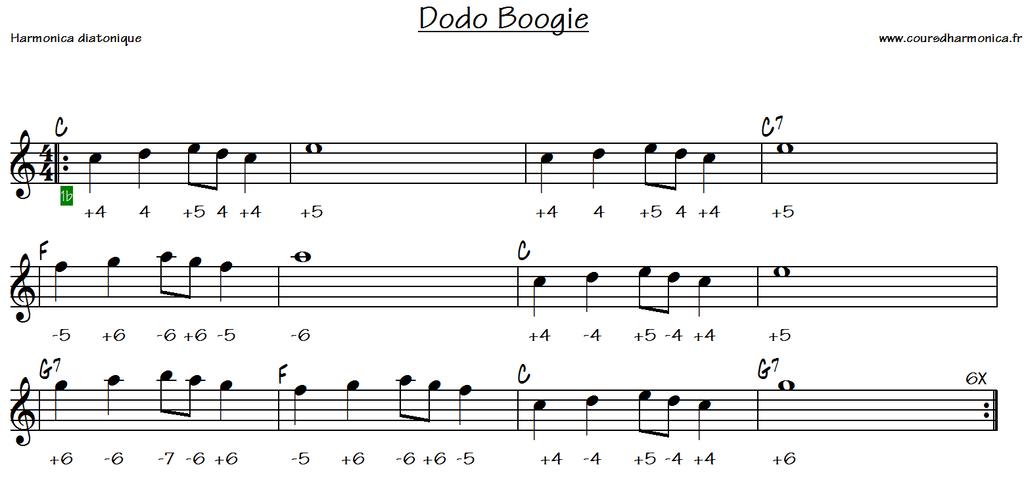 Dodo Boogie - Harmonica C