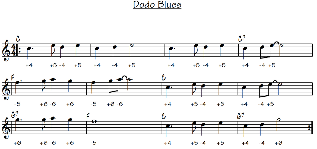Dodo Blues - Harmonica C