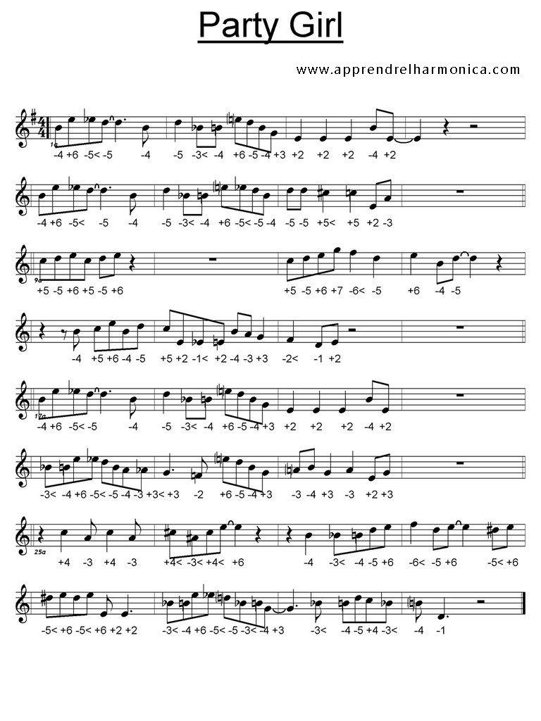 Party Girl - Harmonica chromatique