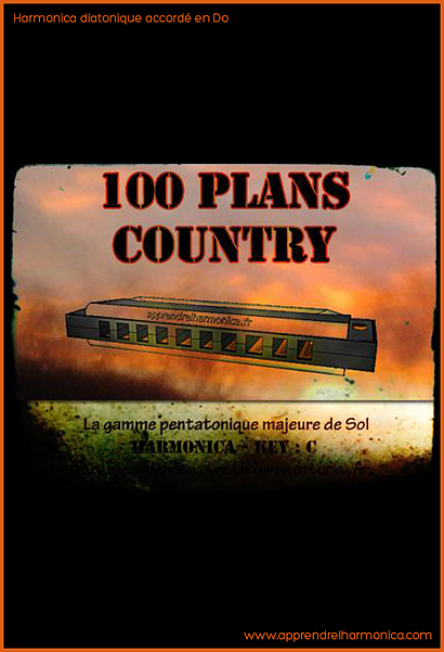 Recueil de 100 plans ''Country'' - Harmonica C