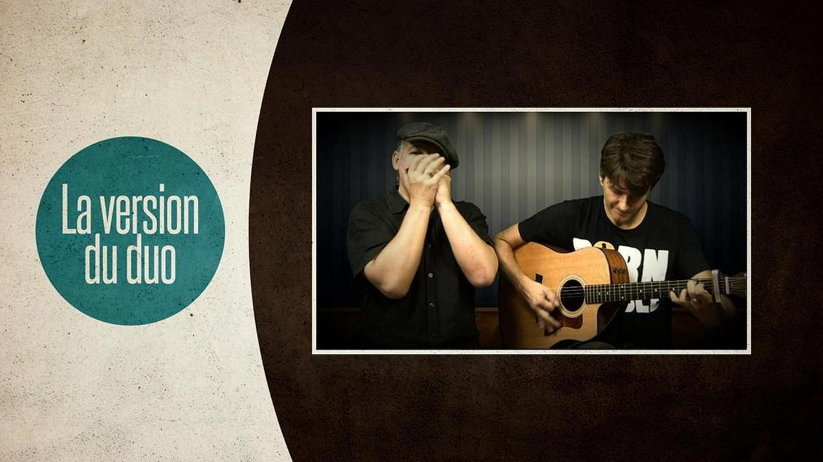 Formation pour duo - I'm going down this road feeling bad - tabs guitare et harmonica G