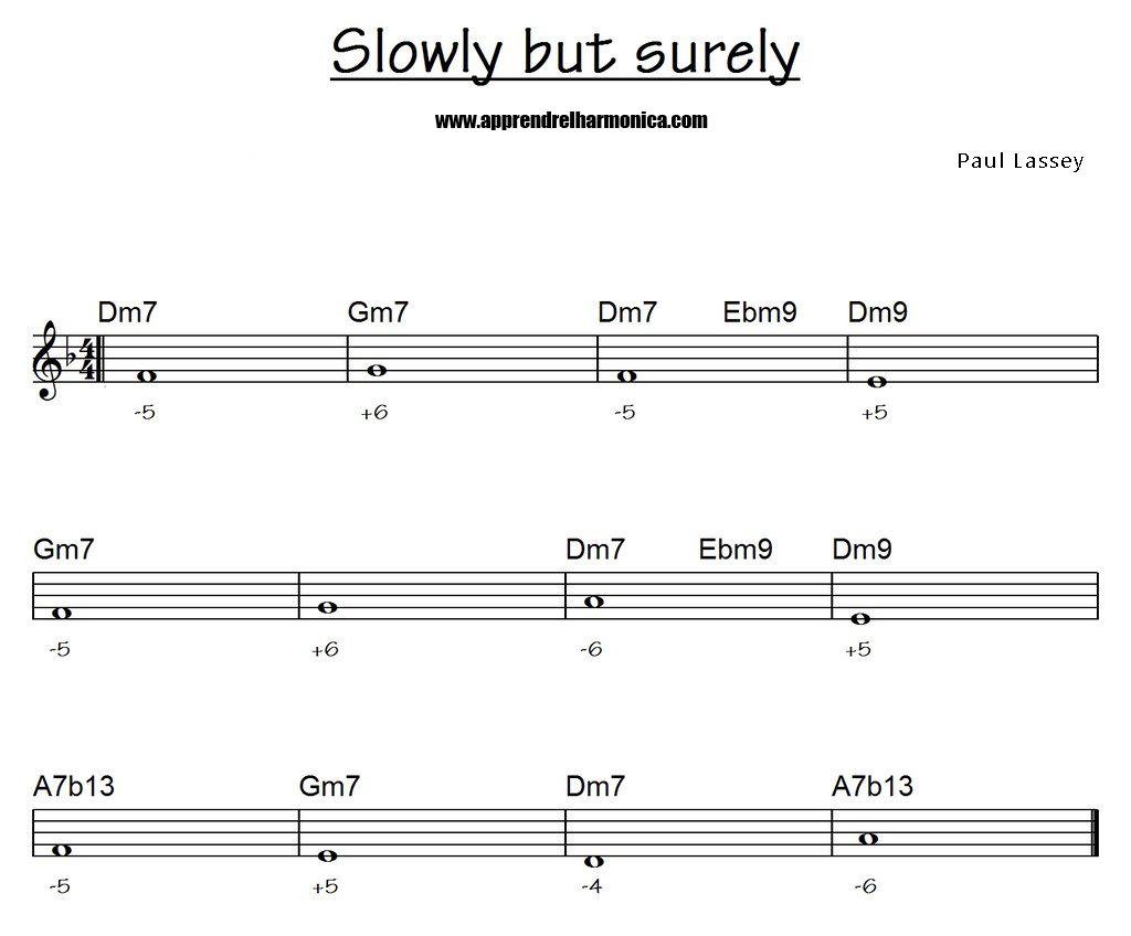 Exercice 01 - Slowly but surely - Paul Lassey - Harmonica C