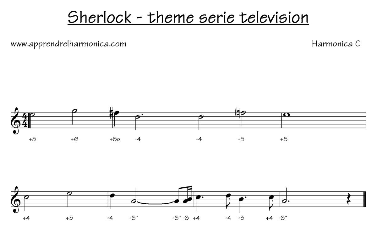 BBC's Sherlock Original Soundtrack - Opening Titles [01] - Harmonica C