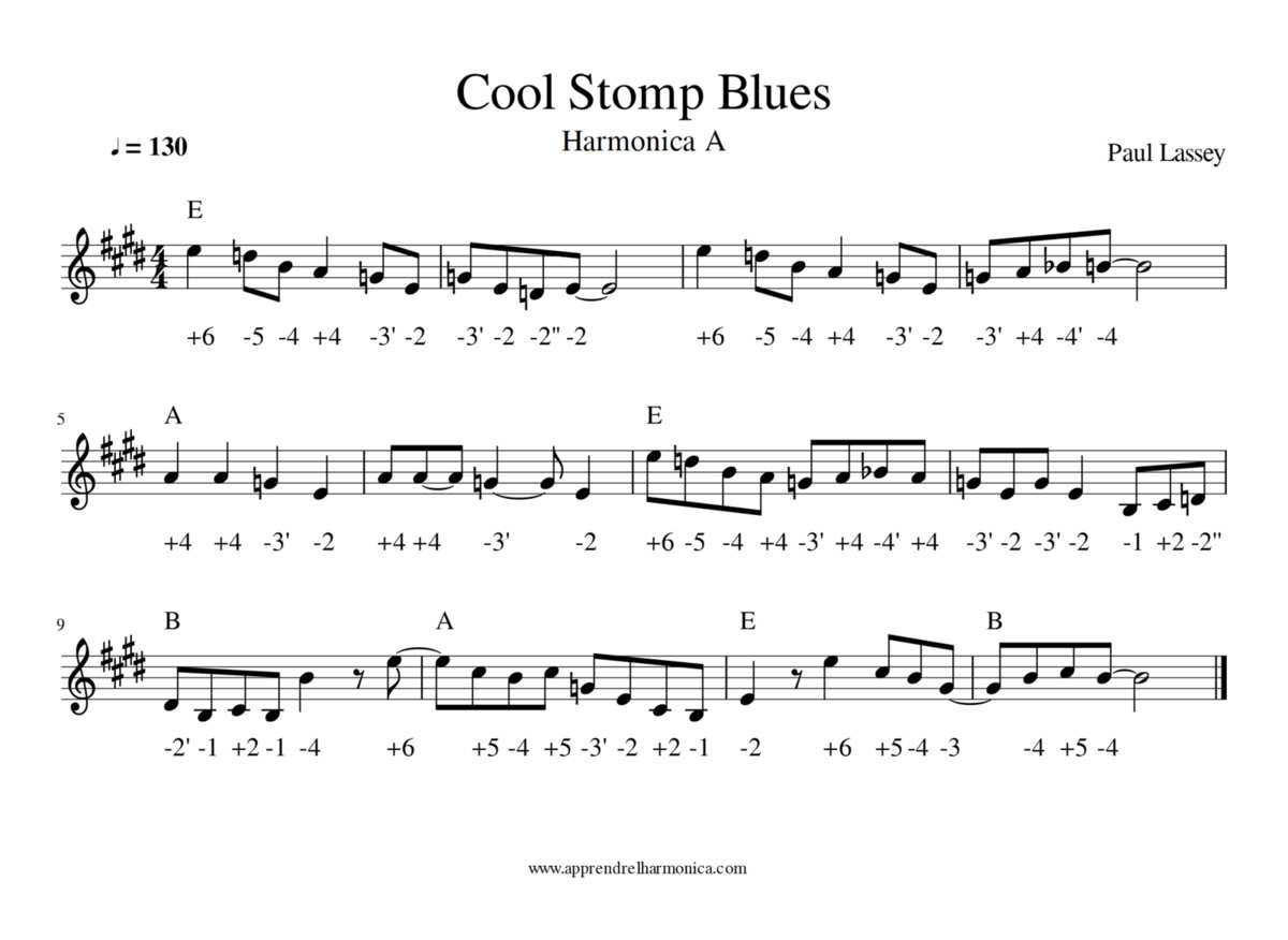 Cool Stomp Blues - Harmonica A