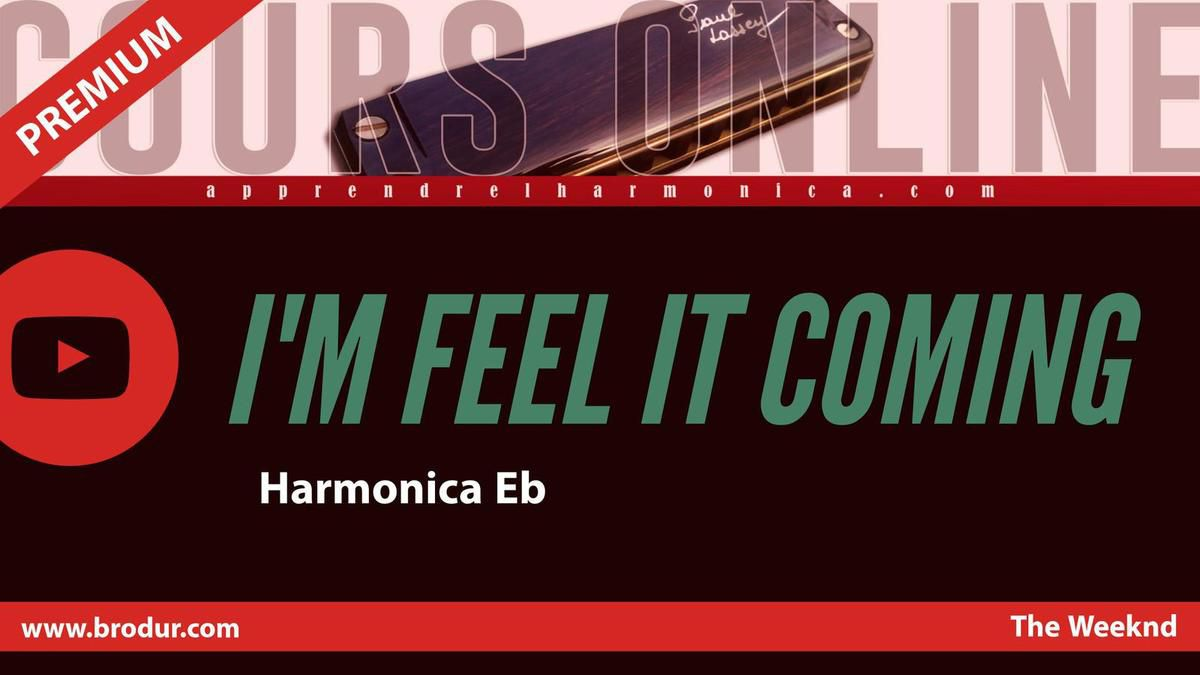 The Weeknd - I Feel it Coming - Harmonica Eb