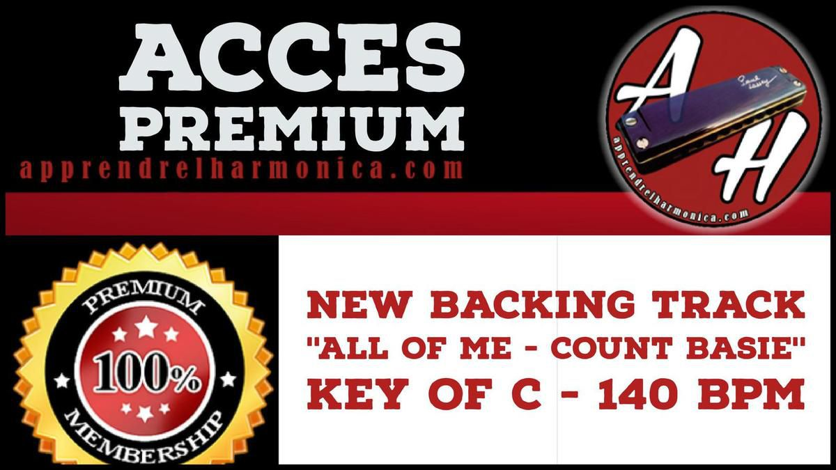 New Backing track ''All of me - Count Basie'' Key of C - 140 bpm