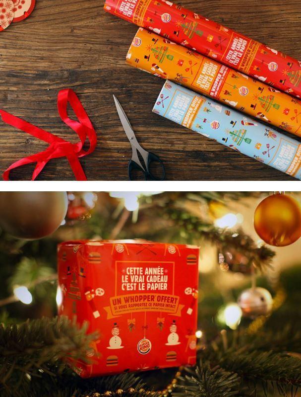 Buzz : Le vrai cadeau c'est le papier cadeau selon Burger King
