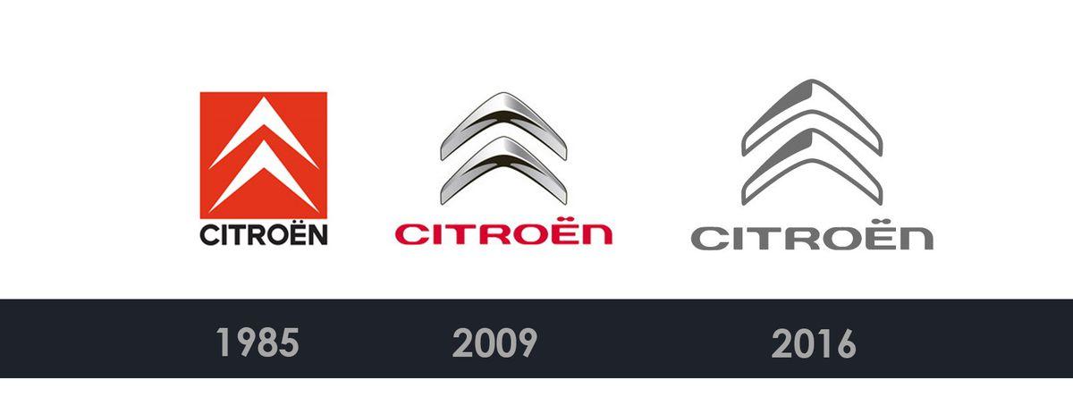 branding : citroën change son logo en perdant sa couleur rouge
