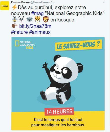 Média : Nouveau magazine National Geographic Kids