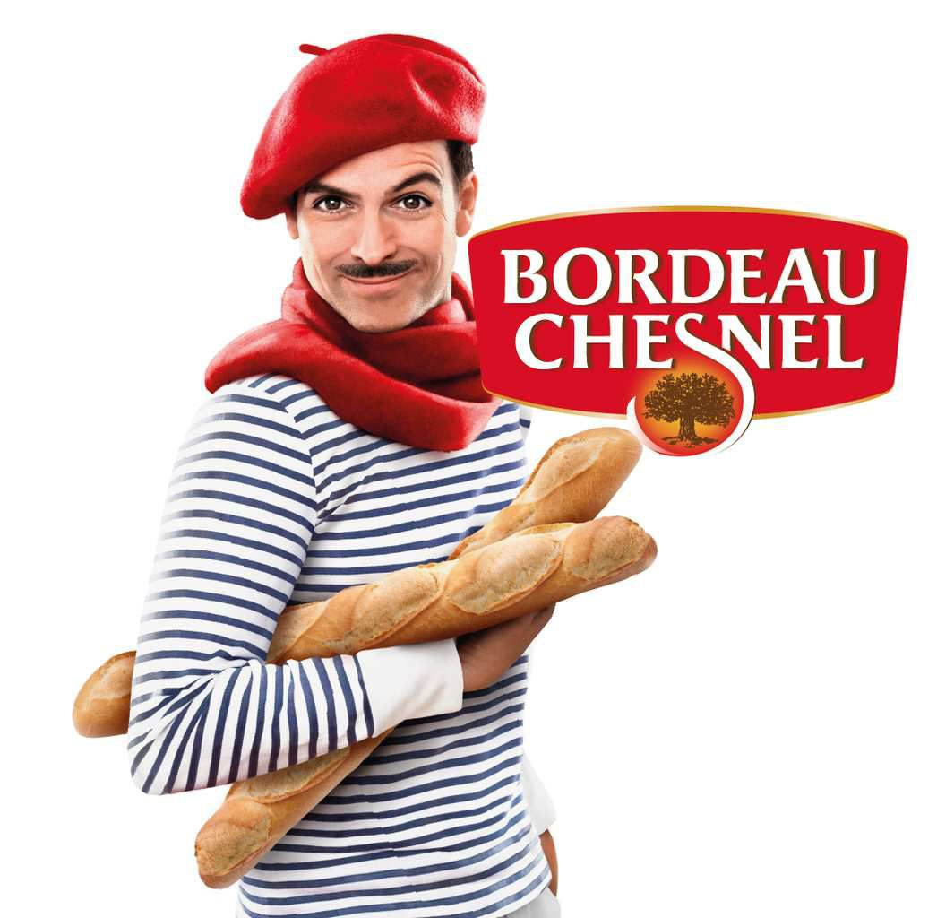 Packaging : Bordeau Chesnel International, le packaging béret, moustache et baguette