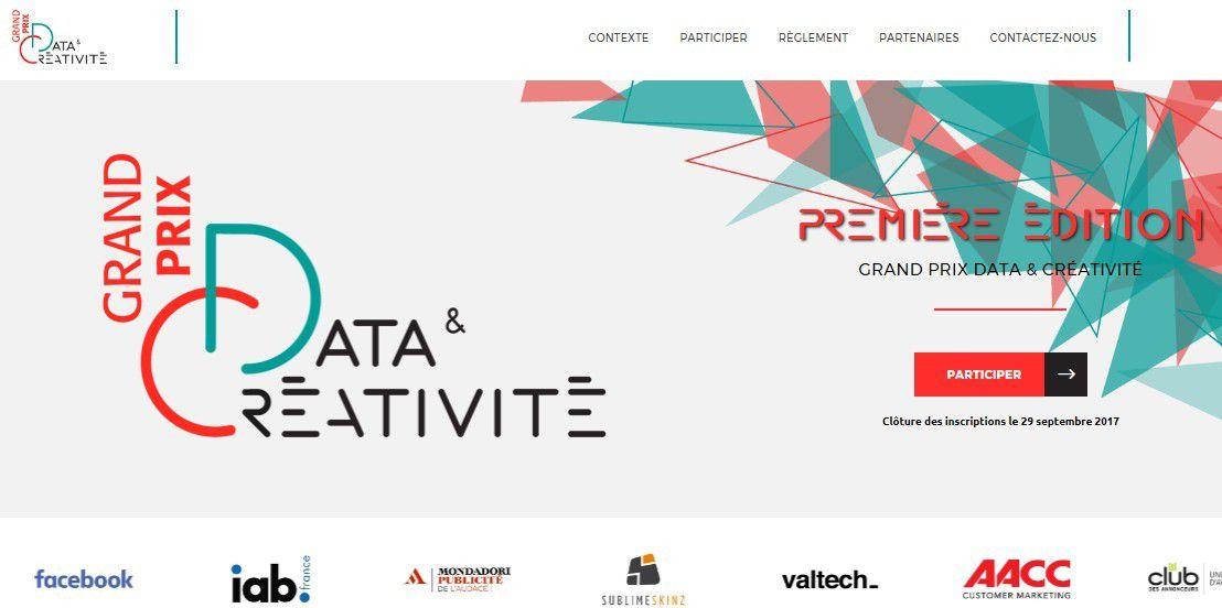 Marketing event : 1er grand prix Data &amp&#x3B; Créativité en novembre 2017