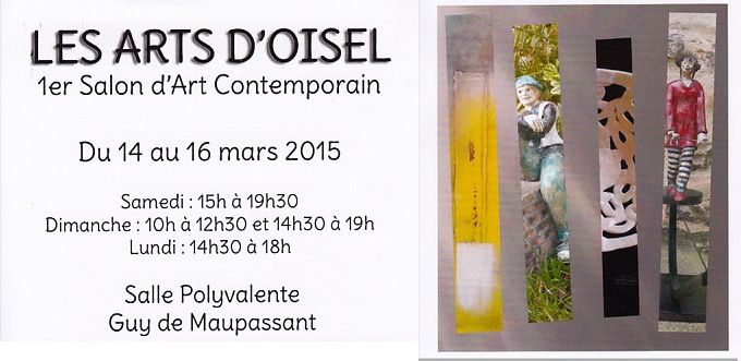 Salon d'art contemporain en mars 2015 à La Neuville Chant d'Oisel