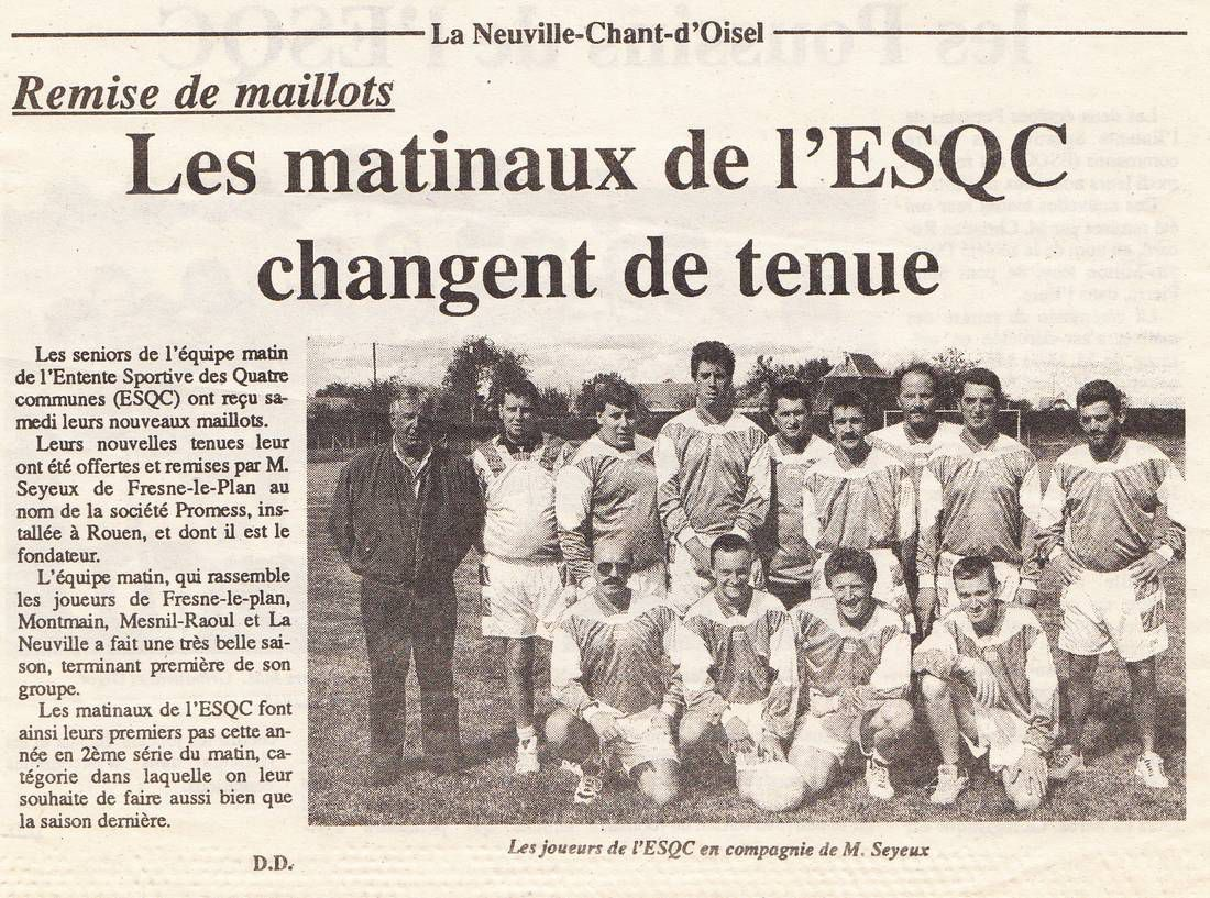 Les seniors de l'ESQC (paris normandie sept 1997)