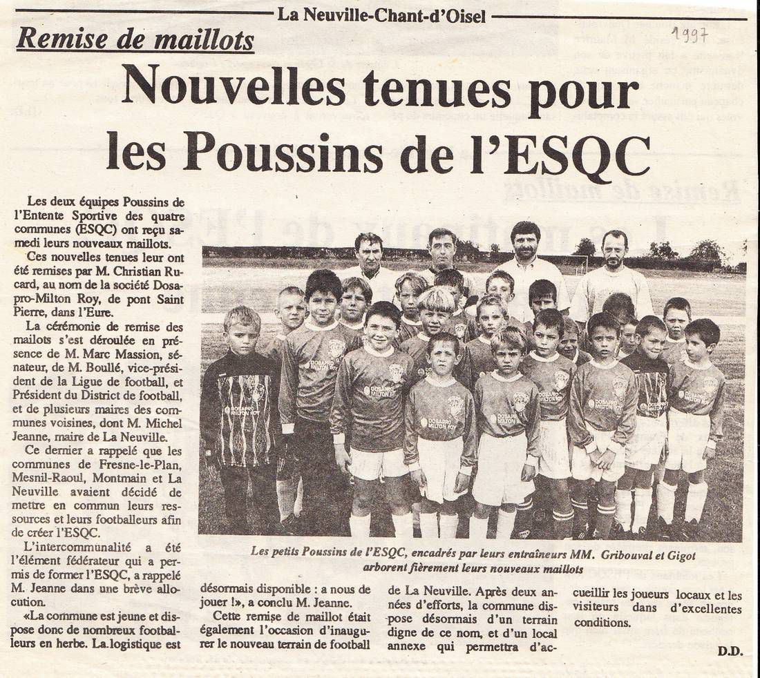 Les poussins de l'ESQC (paris normandie sept 1997)