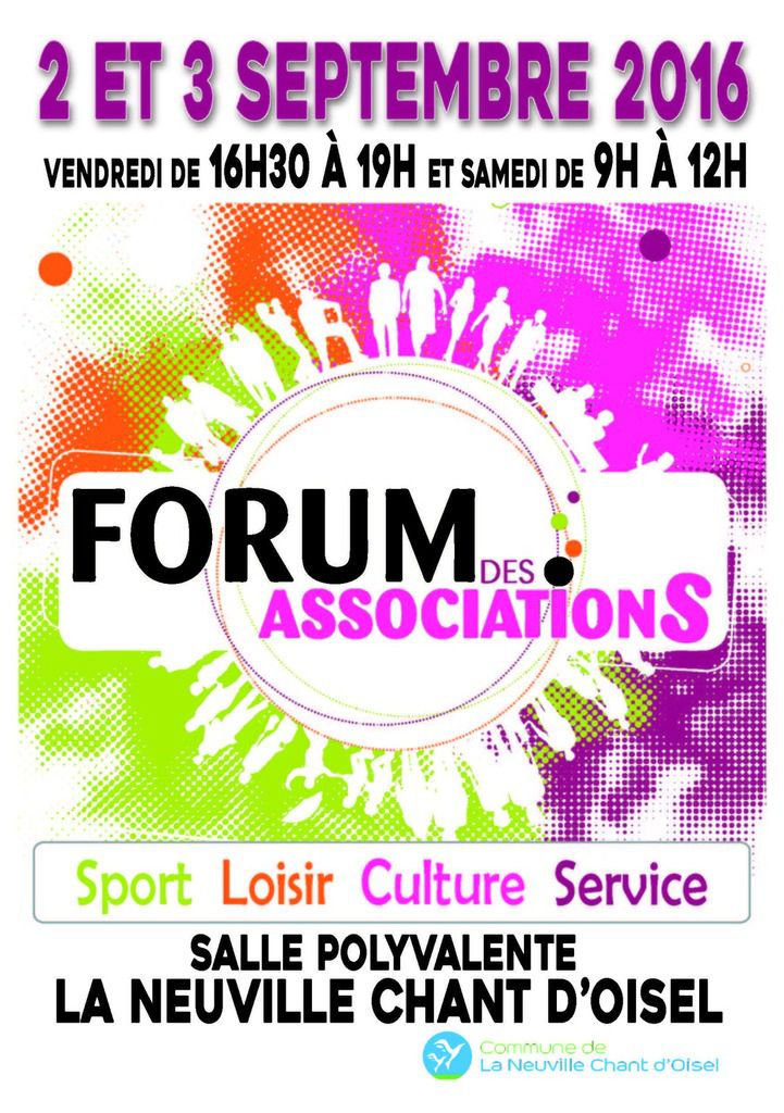 Forum des associations en septembre 2016 à La Neuville Chant d'Oisel