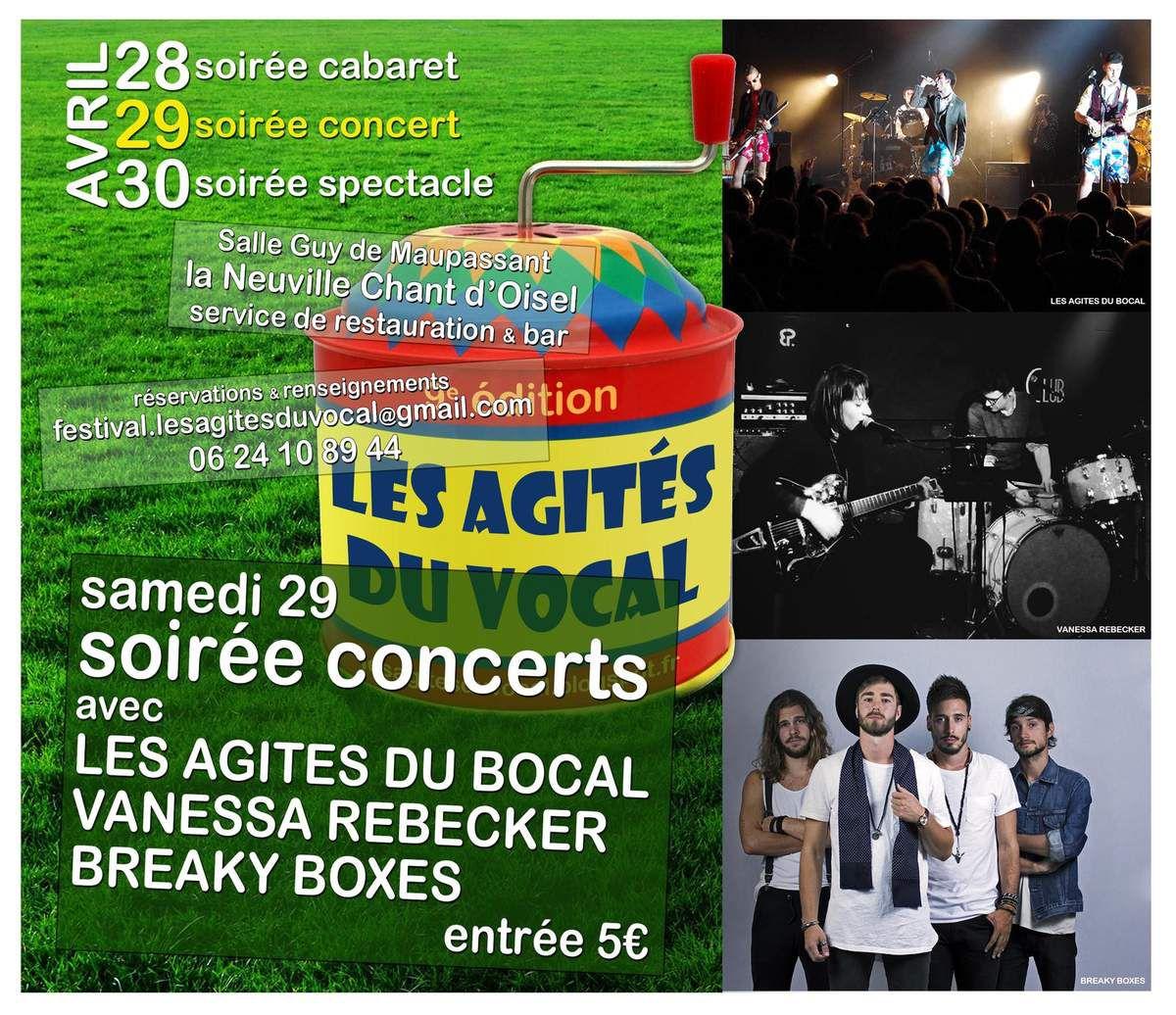 Soirée concerts le 29 avril 2017 à La Neuville Chant d'Oisel